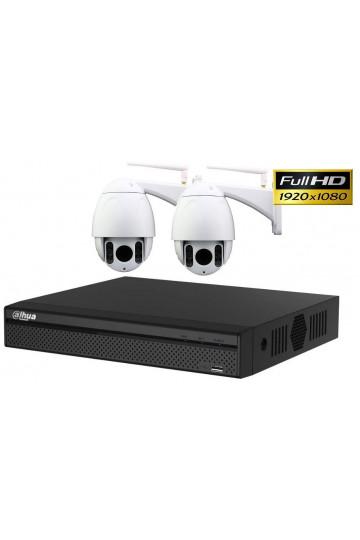 Kit videosurveillance XVR 1TO avec 2 cameras WIFI ptz motorisées FULL HD 1080P