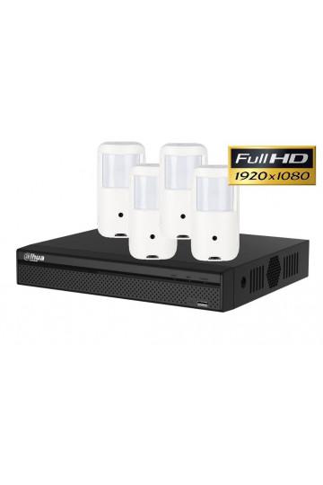 Kit videosurveillance discret full HD avec 4 cameras detecteur PIR DAHUA 1TO