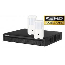 Kit videosurveillance discret full HD avec 2 caméras detecteur PIR DAHUA 1TO