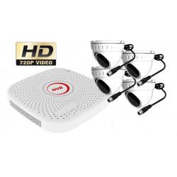 Kit videosurveillance CPL courant porteur NVR avec 4 cameras ip p2p 1MP 720P full hd 1TO