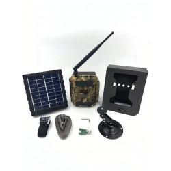Pack caméra chasse SHOT3 avec boitier antivandalisme et batterie solaire
