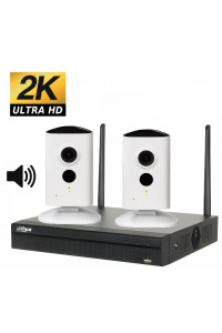 Kit videosurveillance wifi 2 cameras ip p2p wifi interieures