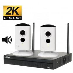 Kit videosurveillance wifi 2 cameras ip p2p wifi interieures DAHUA