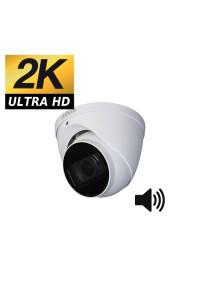 Camera dome antivandale HDCVI DAHUA 4MP 2K FULL HD avec son