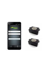 Pack 2 traceurs gps  longue autonomie aimantés BALTRACK ECO  écran de controle 5 pouces