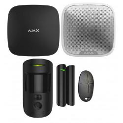 Kit PREMIUM alarme AJAX avec levée de doute et sirène Noir