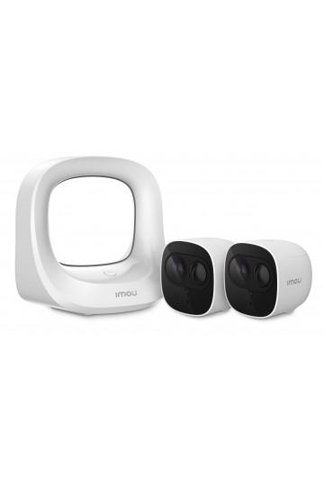kit vidéosurveillance entièrement sans fils IMOU CELL PRO avec 2 caméras full hd autonomes
