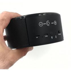 Caméra espion ip wifi cachée dans un chargeur induction enceinte bluetooth 1080P