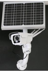 Caméra extérieure autonome 4G à rechargement solaire vision nocturne détection PIR 64GO