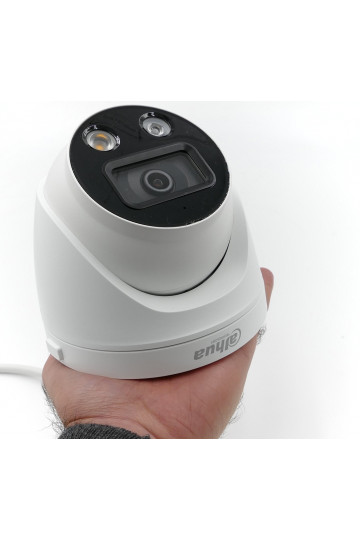 Caméra ip dome 5MP Dahua dissuasive avec détection intelligente sirène et flash