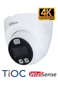 Caméra dome HDCVI 4K 8MP DAHUA dissuasive avec flash lumineux et sirène puissante