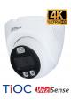 Caméra dôme HDCVI 4K 8MP DAHUA dissuasive avec flash lumineux et sirène puissante