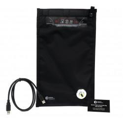 Pochette faraday avec port USB de chargement pour tablettes et smartphones