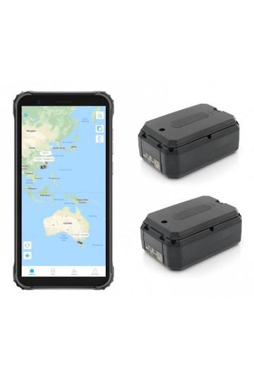 Pack de 2 traceurs GPS AT-1X avec 1 écran de controle durci suivi temps réel