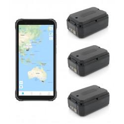 Pack de 3 traceurs GPS AT-1X avec 1 écran de controle durci suivi temps réel