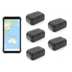 Pack de 5 traceurs GPS AT-1X avec 1 écran de controle durci suivi temps réel
