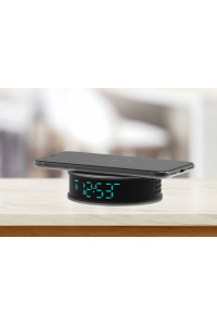 Caméra espion WiFi réveil avec charge induction vision nocturne